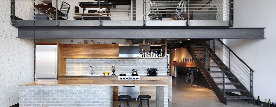 Loft modernos vonvang for Loft modernos exterior