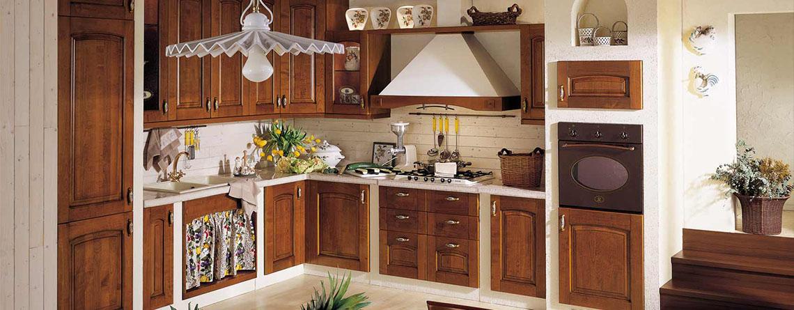 Cocina rusticas alacenas y bajomesadas de madera vonvang for Cocinas camperas rusticas